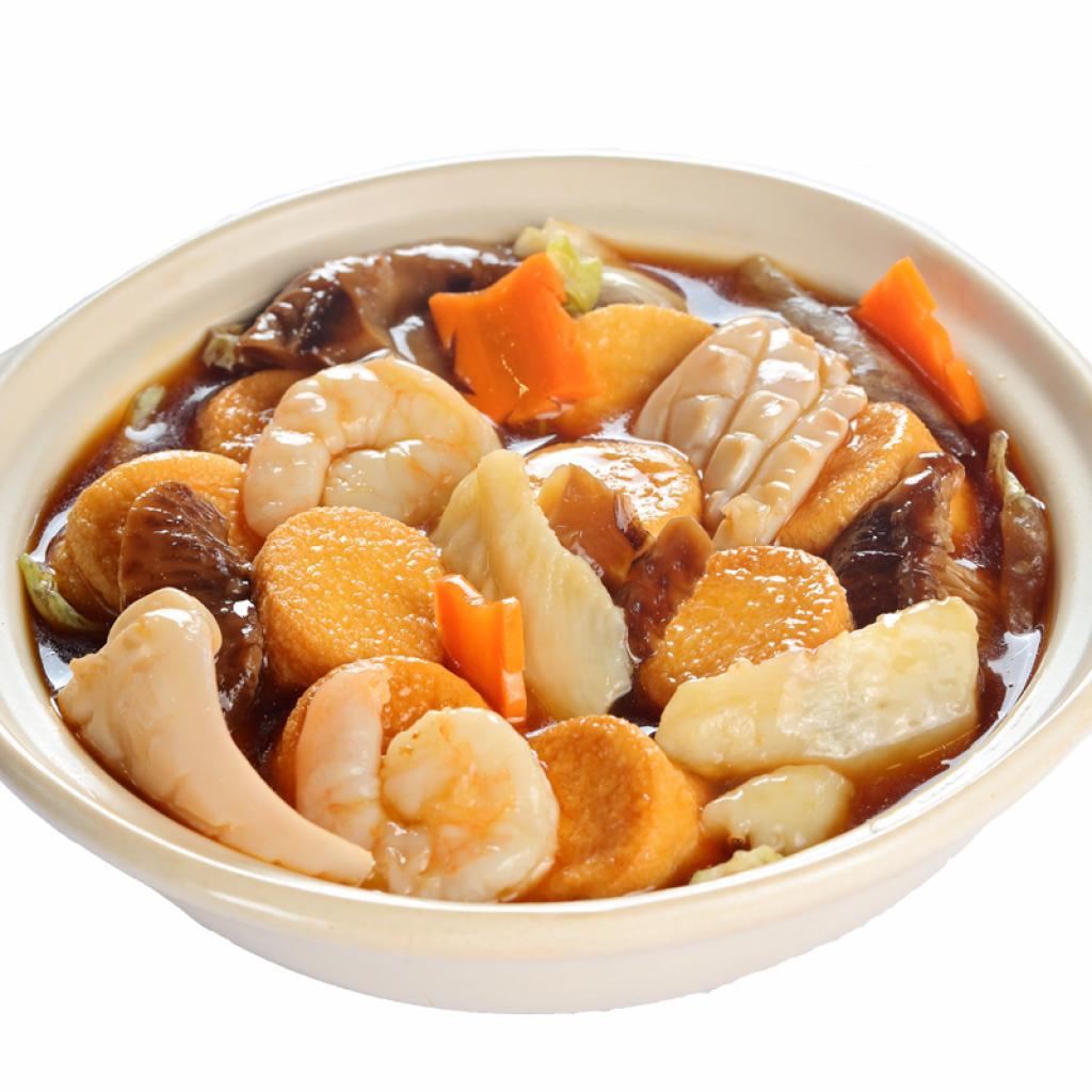 沙煲海鲜豆腐