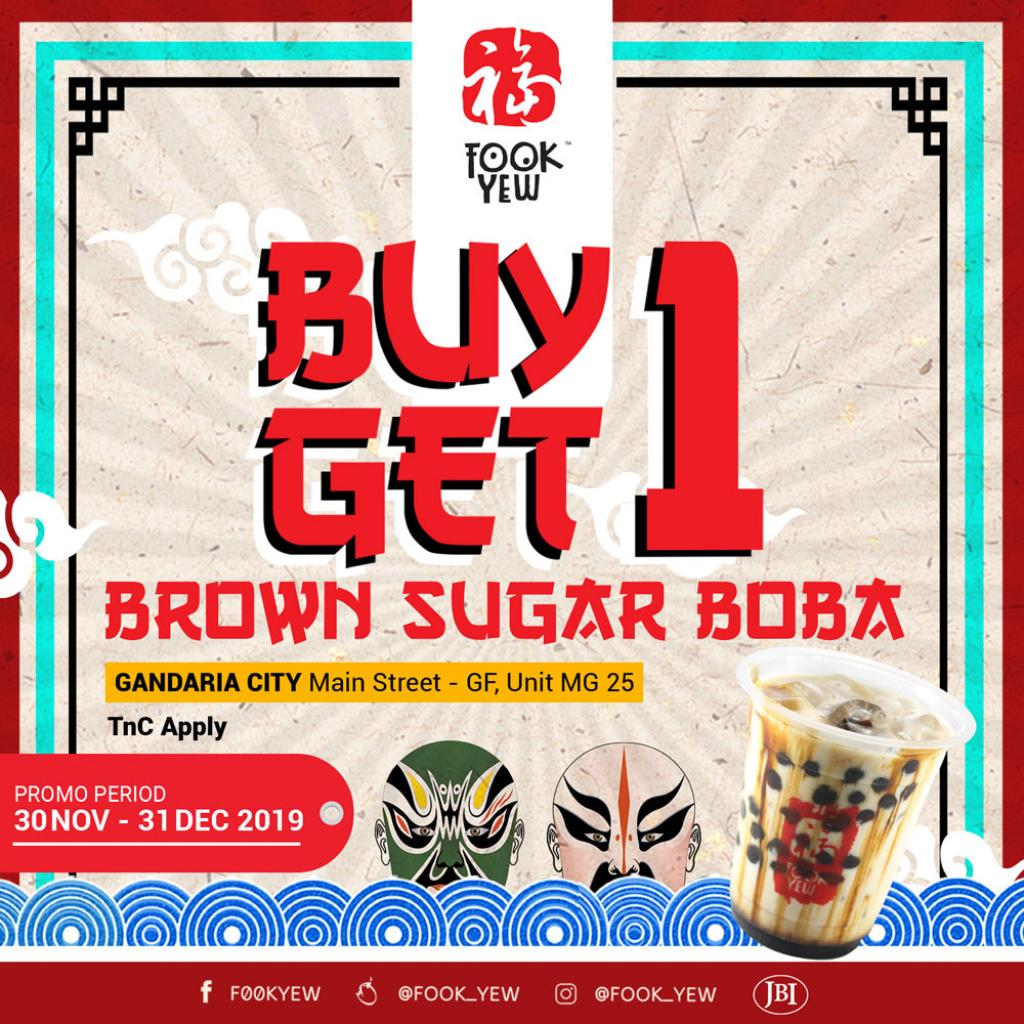 Buy 1 Get 1 Bubble Tea only at Gandaria City