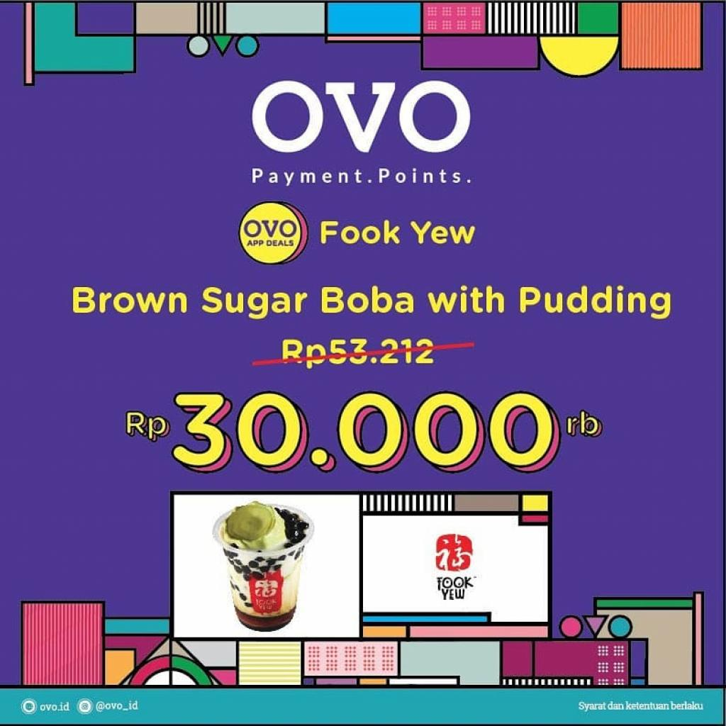 OVO Deals - BROWN SUGAR BOBA WITH PUDDING Rp30.000